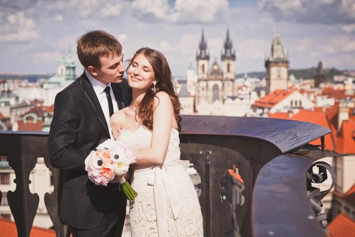 Свадьба в Праге. Церемония в Клементинуме. Лера и Сергей